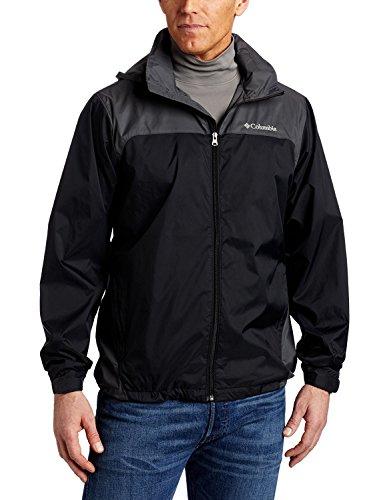 Columbia Men's Glennaker Lake Front-Zip Jacket, Black/Grill, Medium