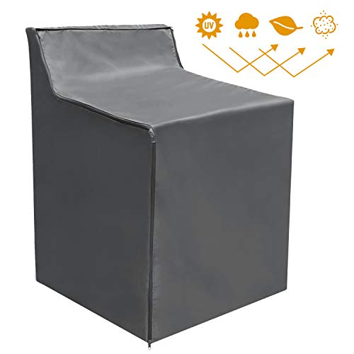 Washing Machine Cover Waterproof Sunscreen Thicker Fabric Zipper Design for Easy use
