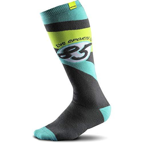 EVS Sports Men's Moto Sock (Cosmic) (Tiffany Blue, Small/Medium)
