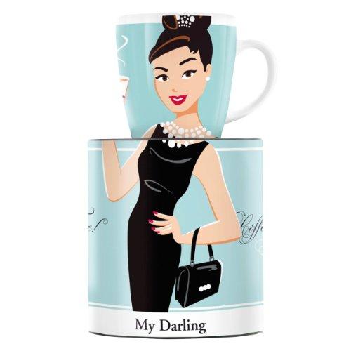 Ritzenhoff My Darling Kaffeebecher, Porzellan, Mehrfarbig, 8,9 x 8,9 x 9,5 cm