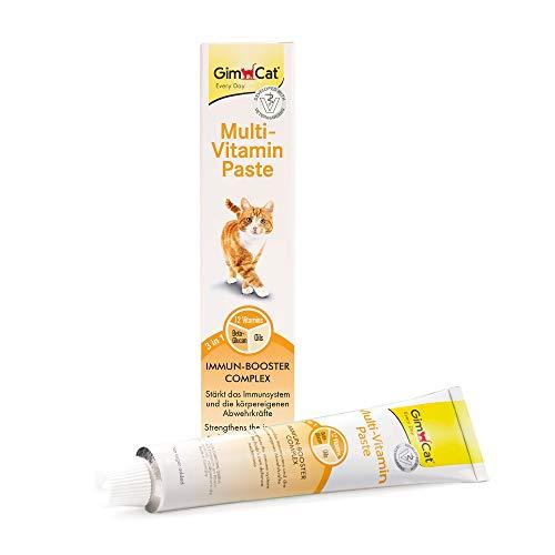 GimCat Multi-Vitamin, pasta multivitaminas - Saludable snack para gatos que activa las defensas y fortalece el sistema inmunológico - 1 tubo (1 x 200 g)
