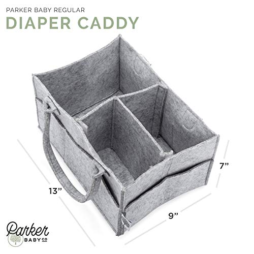 Image of Parker Baby Diaper Caddy - Nursery Storage Bin and Car Organizer for Diapers and Baby Wipes