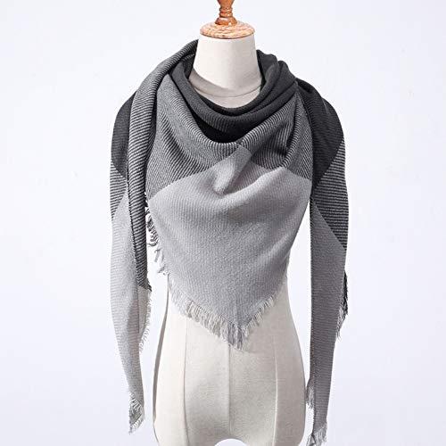 BBDWJ Schal Der Neue Winter Frauen Schal Kashmir Plaid Dreieck Warme Schals Frau Schals Pashmina Frau Bandana Geheime Decke Taschentuch