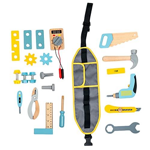 TOYANDONA Kinder Werkzeug Set mit Elektrische Spielzeug Bohrer Kettensäge Jigsaw Spielzeug Werkzeuge für Jungen Und Mädchen Kinder Power BAU Pretend Spielen Werkzeuge Set