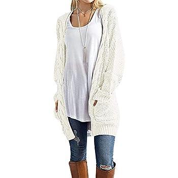 Sherosa Boyfriend Cardigan Sweaters for Women Chunky Cardigan Plus Size  XXL White