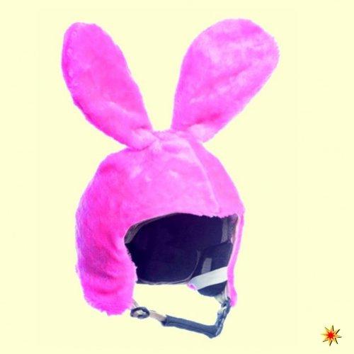 Skihelm Cover Hase pink, Überzug Bunny, Haube