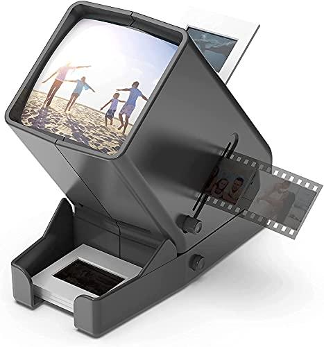 Portable LED Diabetrachter 35mm Negativ und Diaprojektor Dia-Betrachter mit 33fach vergrößernder für Dias