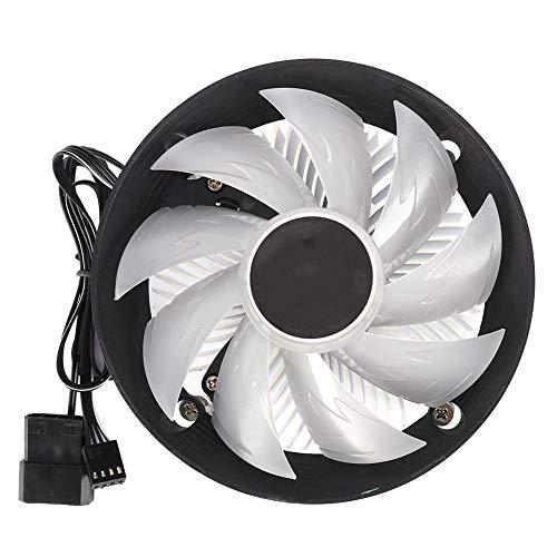 Tonysa CPU-ventilator, stillere RGB CPU-koeler radiator, 12 V DC CPU-koeler voor voor Intel AMD met komvormig ventilatorframe/eenvoudige gesp/smalle lamellen/hoog rendement
