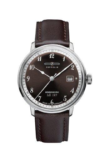 Zeppelin Watches 7046-5 - Orologio da polso uomo, pelle, colore: nero