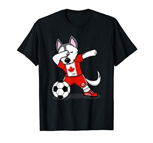 Husky Dabbing Canada Fußball Jersey 2019 Canadian Fußball T-Shirt