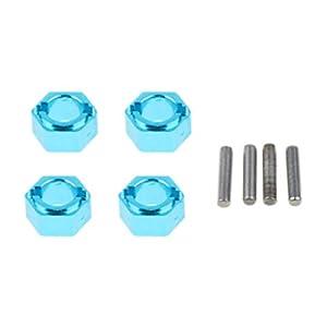 Homyl Dado Ruota Esagonale Blu 12mm con Perni per RC WLtoys A949 A959 A969 A979 1:18