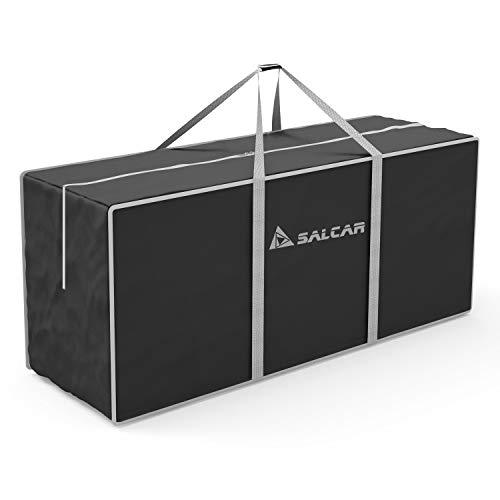 SALCAR Cajas Almacenaje Ropa, Contenedor de Almacenamiento Debajo de la Cama, 130 x 40 x 50 cm. Bolsa de Almacenamiento de Viaje, usada para Edredones Fundas Almohadas Juguetes Chaquetas Ropa - Negro