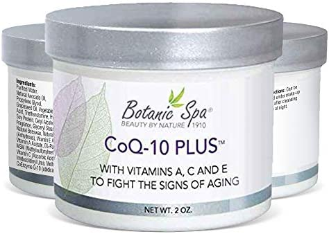 Botanic Spa CoQ 10 Plus Wrinkle Cream Natural Daily Moisturizer Promotes Softer Smoother Skin product image