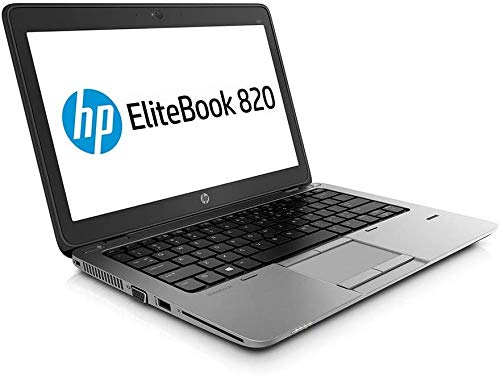 HP EliteBook 820 G2 - PC portátil - 12.5 '' - (Core i5-5200U / 2.20 GHz, 8GB RAM, SSD 128GB SSD, WiFi, Windows 10, Teclado QWERTY) Modelo Muy rápido (Reacondicionado)
