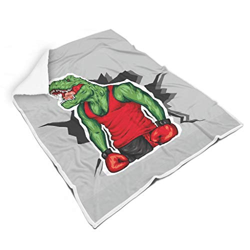 Tyrannosaurus Rex knuffelig verschillende patronen zacht voor sofa All Season Square Blankets voor kinderen of volwassenen, familiestijl