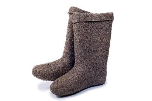 Lammfellstiefel natürliche wärmende Winterstiefel aus Russland(Valenki) – Barfußschuhe (43 EU)