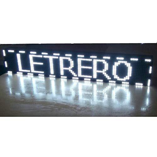 Cartel LED programable USB + WiFi para Interior Rótulo Luminoso Display LED Alta luminosidad Pantalla electrónica (BLANCO)