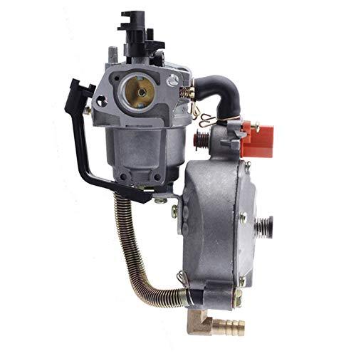 Limpiador de carburador Gasolina Bomba de agua carburador Carb for Honda GX160 Dual 2KW 168F generador de combustible motocicleta del coche de la quitanieves Accesorios motosierra Tornillos de carbura