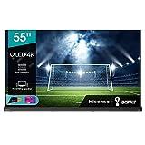 "Hisense 55"" OLED 4K 2021 55A98G, Soundbar Integrata 2.1.2 120W Dolby Atmos, Smart TV VIDAA 5.0, HDR Dolby Vision IQ, Controlli vocali Alexa / Google Assistant, Tuner DVB-T2/S2 HEVC 10, lativù 4K"