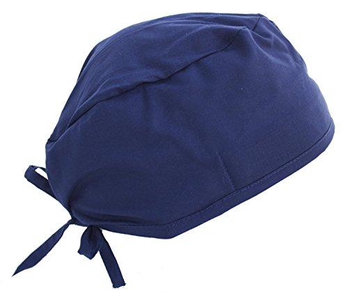 Solid Navy Blue Medical Scrub Cap Headwrap Hat