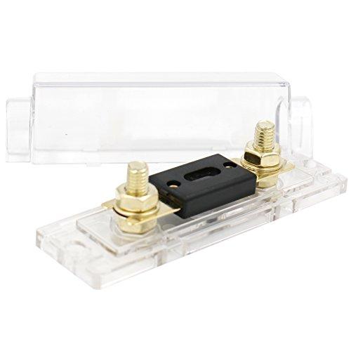 Digiten auto stereo audio Inline ANL Holder 0/2/4/gauge 250/A Amp placcato oro fusibile