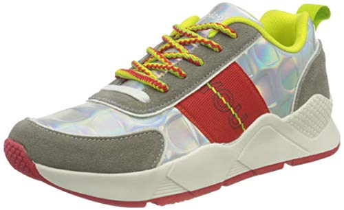 Desigual Damen Shoes_Hydra_iridisc Sneaker, Black, 38 EU