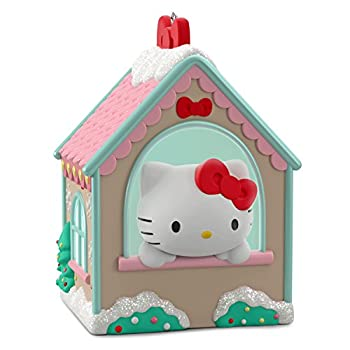 Hallmark Keepsake Christmas Ornament 2018 Year Dated Sanrio Hello Kitty Gingerbread House