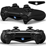 Sololife Game Theme Led Lightbar Cover Light Bar Decals Stickers for Playstation 4 PS4 PS4 Slim PS4 Pro Controller Skins-Weed