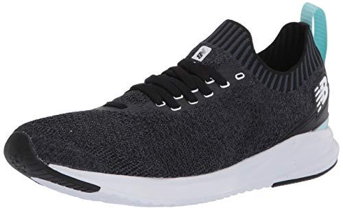 New Balance Women's Vizo Pro Run Knit V1 Shoe, Black/White/Bali Blue, 11