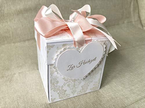 Explosionsbox Hochzeit - Glückwünsche Hochzeit - Geldgeschenk Hochzeit (Rosa)