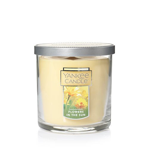 Yankee Candle Flowers in The Sun Small Tumbler Candle, Floral Scent