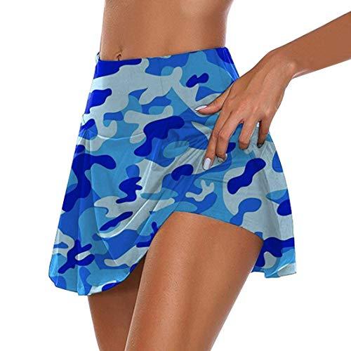 Puimentiua Gonna Sportiva con Pantaloncini da Donna con Stampa Culottes a Vita Alta per Golf Jogging Badminton Nuotare