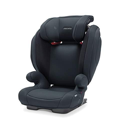 Recaro Kids, Monza Nova 2 SF Kindersitz für Kinder von 15-36 kg, Gruppe 2-3, für Kinder von 3,5 bis 12 Jahren, für Autos mit und ohne ISOFIX-System, Integriertes Soundsystem, Select Night Black