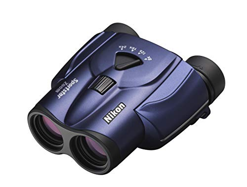 Nikon Binocolo Sportstar Zoom 8-24 X 25, Dotato di una Leva Zoom, Leggero, Blu