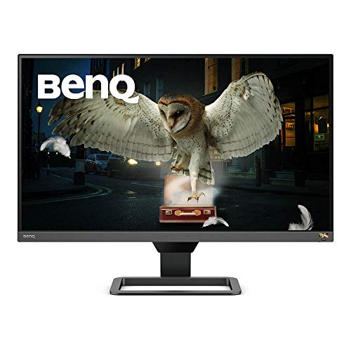 "BenQ EW2780Q IPS Entertainment Monitor with HDMI connectivity HDR Eye-Care Integrated Speakers and Custom Audio Modes, Black, 27"" QHD IPS HDR SPK"