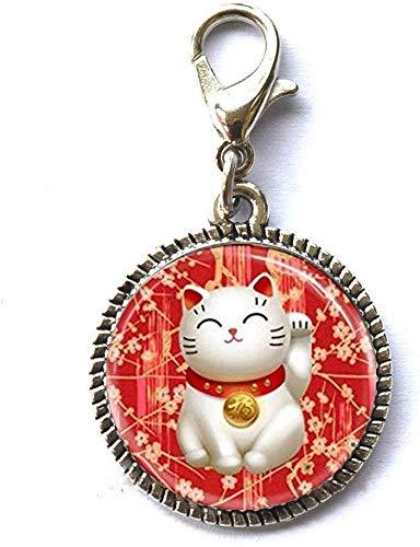 Pulsera de regalo con cierre de cremallera y cierre de mosquetón, diseño de gato gordo, color...