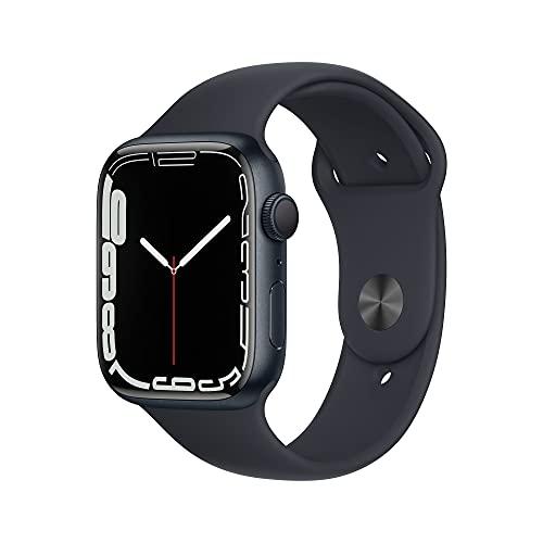 AppleWatch Series7 (GPS) Boîtier en Aluminium Minuit de 45mm, Bracelet Sport Minuit - Regular