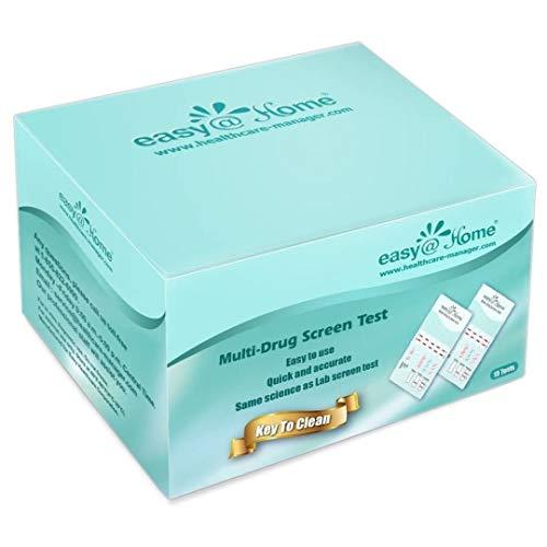 15 Pack - Easy@Home 5 Panel Home Test Kit - Urine Dip Card Drug Testing - Tests for THC, COC, OPI2000, mAMP/MET, BZO #EDOAP-654 Expires 10/10/21