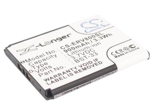 Rechargeable Battery 900mAh For Sony-Ericsson BST-33, T700, V802SE, W610i, G900, Z610i, V800i,...