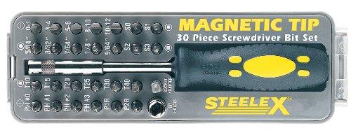 Steelex D2032 Magnetic Tip Screwdriver Bit Set