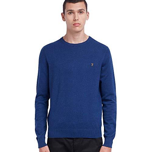 FARAH Mullen Pullover mit langen Ärmeln, Marineblau - Blau - Groß