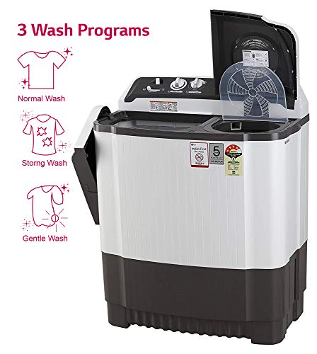 LG 7 Kg 4 Star Semi-Automatic Top Loading Washing Machine (P7020NGAY, Dark Gray, Collar scrubber) 5