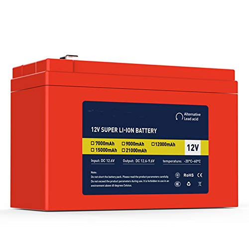 12V 7Ah / 9Ah Lithium Li-Ion batterie rechargeable, grande capacité de batterie alimentation de secours,12V 7Ah