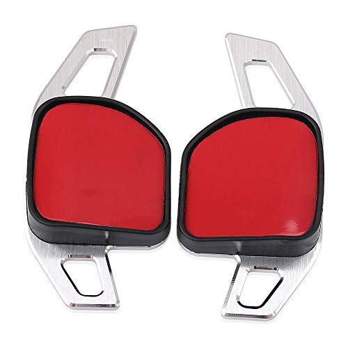 CHNY Shift Paddle Car Steering Wheel Shifter,For Audi A3 A4 A4L A5 A6 A7 A8 Q3 Q5 Q7 TT S3 R8-Silver Paddle Shifter