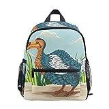 Lustiger Dodo Vogel-Rucksack für Mädchen, Jungen, Schule, Reisen, Kinder