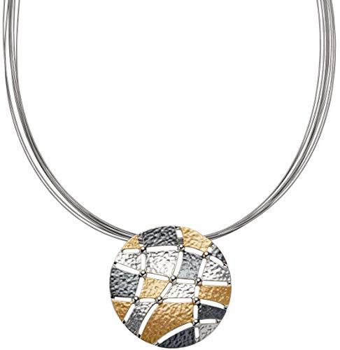 Perlkönig Kette Halskette | Damen Frauen | Silber Gold Schwarz Farben | Tricolor | Nickelabgabefrei