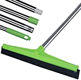 YCUTE Floor Squeegee Adjustable Professional Water Squeegee with Long Handle - 54' Floor Cleaner Wiper Perfect for Marble, Glass, Pet Hair, Bathroom, Window Cleaning