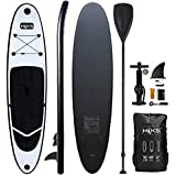 HIKS Black 10ft / 3m Stand SUP Board Set Inc Paddle, Pump, Backpack & Leash Suitable All Abilities Ideal Beginners Inflatable Paddleboard Kit