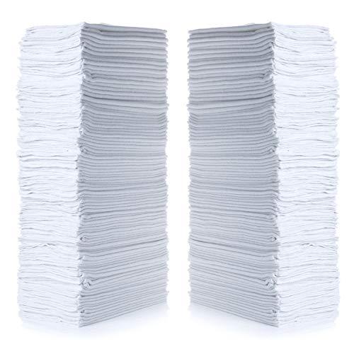 "Simpli-Magic 79006-100PK Commercial Grade 14""x12"" Shop Towels, White, 100 Pack"
