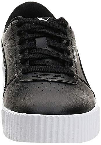 PUMA Carina L, Zapatillas Mujer, Negro Black/White/Silver, 37.5 EU